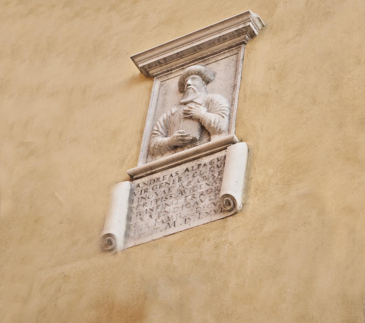 Palazzo Alpago a Belluno Busto di Andrea Alpago